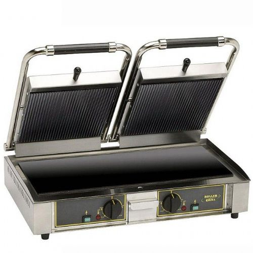 Roller Grill MAJESTIC VC Twin - Ribbed Top & Flat Base Plates Contact Grills
